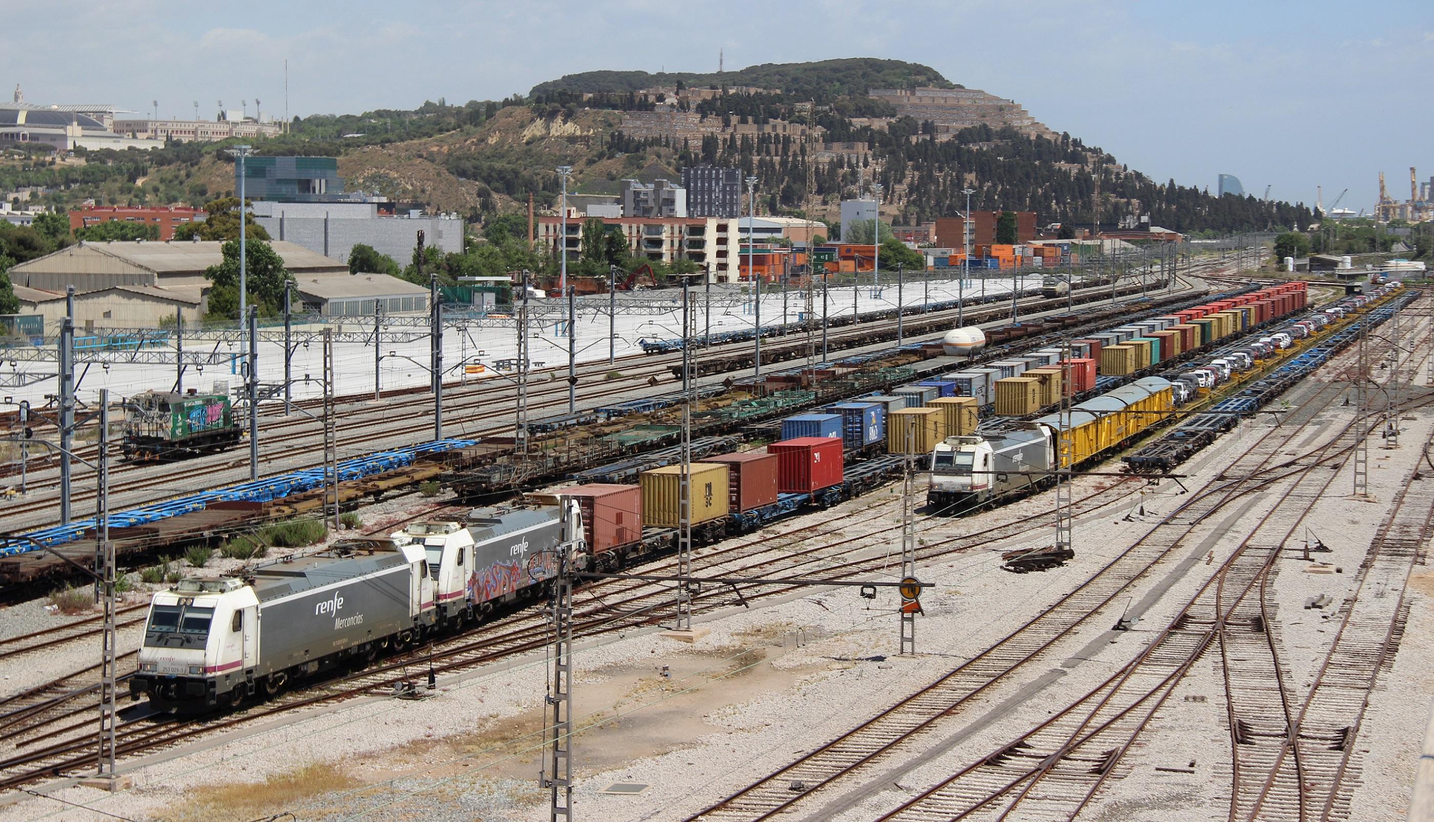 La terminal de mercancías de Barcelona-Can Tunis