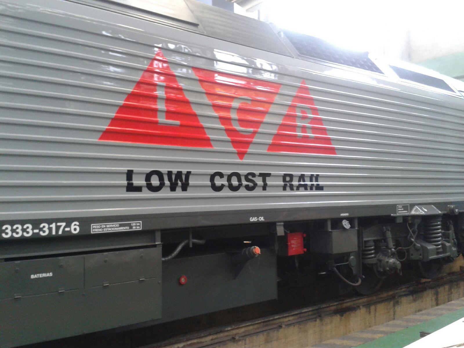 Así luce la nueva locomotora para Low Cost Rail. Autor desconocido.