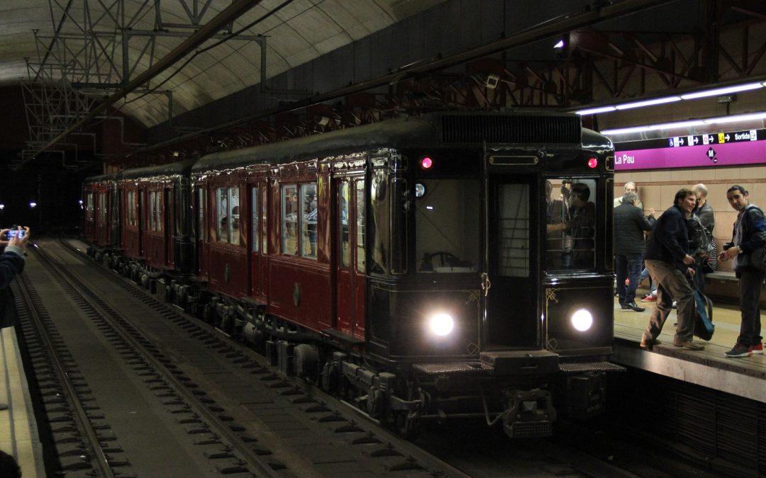 El viaje anual del metro histórico de Barcelona será la noche del 3 al 4 de mayo