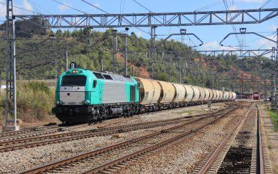 Vuelve el tráfico de cereal a la línea de Canfranc